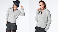 Le cache coeur tricoté en jersey gris, Elégant et indémodable, le cache-cœurfait son retour. A porter cool avec un jeans dans la journée ou accessoirisé de bijoux pour le soir.