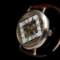 Mens SILVER 1921 OMEGA SWITZERLAND Vintage SKELETON Watch BEAUTIFUL ENGRAVED   eBay