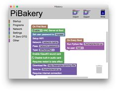 PiBakery - The blocks based, easy to use setup tool for Raspberry Pi