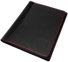 Abarth Handbook Document Wallet Holder Black with Red Stitching New Gen 53008546 | eBay