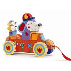 Djeco Bolido Auto mit Hunden für Kleinkinder ab 12 Monaten - Bonuspunkte sammeln, Kauf auf Rechnung, DHL Blitzlieferung!
