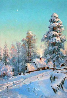 New winter landscape painting ideas Ideas Watercolor Landscape, Landscape Art, Landscape Paintings, Landscape Photography, Painting Snow, Winter Painting, Winter Szenen, Winter Illustration, Winter Pictures
