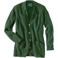 Woolrich Women's Spruce Green Gianna Cardigan: Clothing