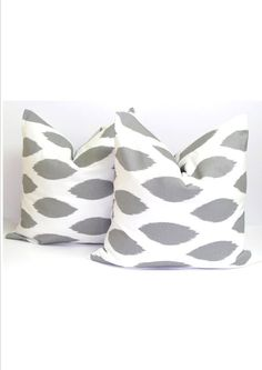 GRAY PILLOWS SET of Two Covers for.20x20 inch Pillows