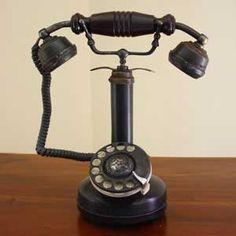 Téléphone rétro ancien modèle - reproduction téléphone ancien - boutique décoration rétro