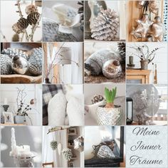 Herzenswärme Collages, Table Decorations, Winter, Inspiration, Furniture, Home Decor, Heart, Winter Time, Biblical Inspiration