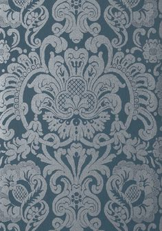 DORIAN DAMASK, Navy, T89107, Collection Damask Resource 4 from Thibaut