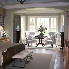 Master Bedroom Sitting Area Design Ideas, Pictures, Remodel, And Decor    Page 2