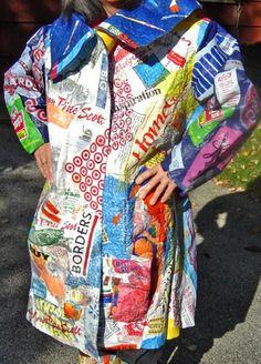iron plastic shopping bags between waz paper Plastic Bag Crafts, Recycled Plastic Bags, Fused Plastic, Plastic Art, Plastic Bottles, Recycled Art Projects, Recycled Crafts, Plastic Shopping Bags, Bodo