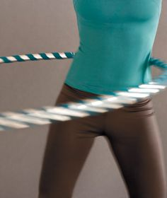 A fun hula-hoop exercise routine
