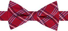 Tommy Hilfiger Men's Triple Grid Pre-Tied Silk Bow Tie