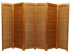 Oriental Furniture Formal Modern Design, 69.5-Inch Shutter Style Folding Privacy Screen Room Divider with Blinds, 6 Panel... $294.00 #bestseller