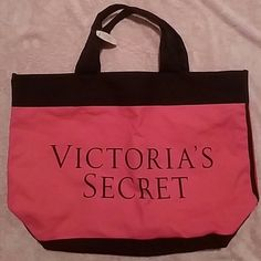 """NWT Victoria's Secret Hot Pink, Red & Black Tote Brand: Victoria's Secret   Item: *The front is Hot Pink with black and lettering in black. *Reverse side is Red & Black. *The Bottom, Side & Handles are solid Blac*NWT  Measures 21""""w x 15""""h x 6""""d.  Drop is 6.5""""  .* no trades, offers via offer button only thank you! * Victoria's Secret Bags Totes"""