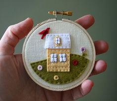 Little House #embroidery #hoop
