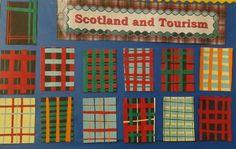 Paper weave tartan School Projects, School Ideas, Art Projects, Katie Morag, Tartan Crafts, Art For Kids, Crafts For Kids, Weaving For Kids, Cultural Crafts