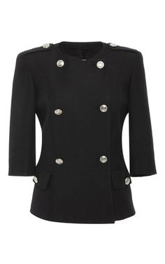 Cotton Blend Double Breasted Jacket  by PIERRE BALMAIN Now Available on Moda Operandi