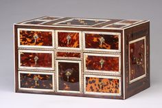 17th Century 'Indo-Portuguese' Table Cabinet of Eight Drawers. This and more important antiques on the CuratorsEye.com