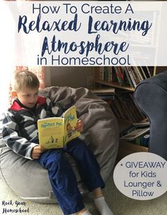 You CAN create a relaxed learning atmosphere in homeschool.  Find out why a relaxed environment is perfect for many type of learners plus tips & resources to inspire you.  Discover how a relaxed approach to homeschooling works for our family-and how it can work for your family, too!  Plus, enter to win this amazing GIVEAWAY of a kids lounger & pillow valued at $190 (sponsored by Brentwood Home).