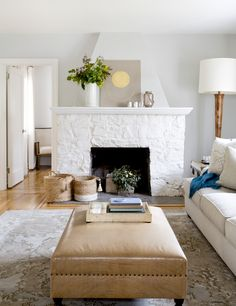 Restored Living Room in a 1920s Tudor Cottage - Irvington, New York