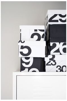 Annixen. DIY boxes wrapped in Stendig calendar (last years of course!)