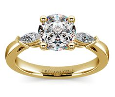 Marquise Diamond Ring in Yellow Gold (1/3 ctw) Check out www.planningyourweddingforless.com