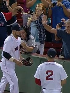 Dropped Phone, A Beer To The Face & A Great Shane Victorino Catch