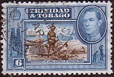 Trinidad and Tobago 1938 Lake Ashfelt Fine Used                    SG 250b Scott 55 Other West Indies and British Commonwealth Stamps HERE!