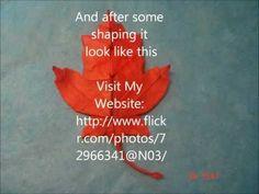 ▶ Origami Maple Leaf - YouTube