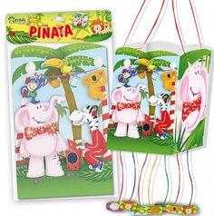 Cosas43, detalles y regalos para los invitados, boda, comunión y bautizo, regalos infantiles Piñata Party Animalitos [86-5452B] - Piñatas para la fiesta de cumpleañosPiñata cuadrada Party Animalitos.Medidas Piñata: 19,5 x 19,5 x 31 cm