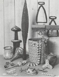 Items found in a Viking grave*