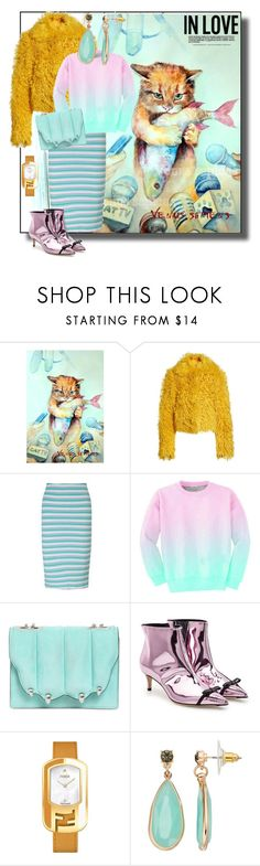 """""""Cat and fashion"""" by zakharova-83 ❤ liked on Polyvore featuring Simon Miller, Miss Selfridge, Aloha From Deer, Marco de Vincenzo, Fendi and LC Lauren Conrad"""