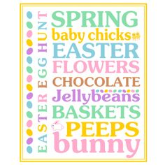 Easter Subway Art Printable by Printabelle