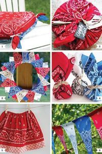 bandanas to cover seat cushions