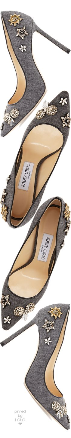 Jimmy Choo Romy Crystal Flannel 100mm | LOLO❤︎