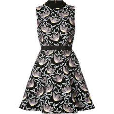 Self Portrait Mini Peony Dress ($425) ❤ liked on Polyvore featuring dresses, kirna zabete, kzloves, life of the party, peony dress, mini cocktail dress, lined dress, lining dress and blue a line dress