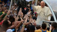 """Pope Francis at the World Youth Day in Copacabana""""s Beach in Rio de Janeiro, Brasil"""