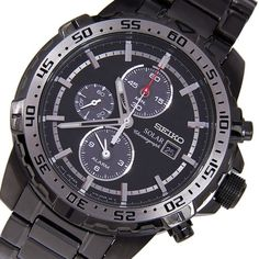 Seiko Mens Solar Chronograph Watch In Stock Free Next Day Deliv Vintage Watches For Men, Best Watches For Men, Stylish Watches, Cool Watches, Fitness Watches For Women, Seiko Solar, Seiko Watches, Sport Watches, Fashion Watches