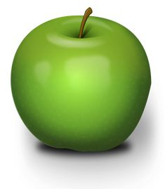 Photorealistic Green Apple by @Chrisdesign, An green apple with much blur inside.The SVG don`t show it correct in Browser., on @openclipart