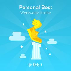 I just beat my personal record with 81,986 steps in the Workweek Hustle challenge! #Fitbit