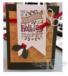 "Christmas in September (part three) was made by Lynn Birus with Stampin' Up's ""Mingle All the Way"" stamp set."