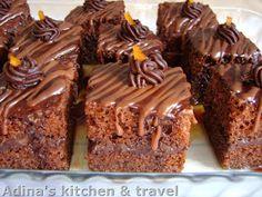 Adina's kitchen & travel: Prajitura Amandina Romanian Desserts, Romanian Food, Romanian Recipes, Gordon Ramsay, Nutella, Chocolate Cake, Good Food, Fondant, Postres