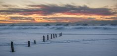 Winter sunset over Sauble Beach volcano ice stacks.Canada's Best Sunsets, even in winter! Fine Art Photography, Landscape Photography, Nature Photography, Lake Huron, Winter Sunset, Best Sunset, Beach Photos, Volcano, Printing Services