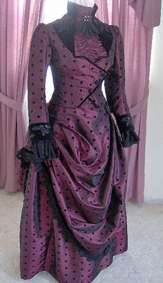 FOR ORDERS ONLY 1800s Victorian Dress 1887 Bustle