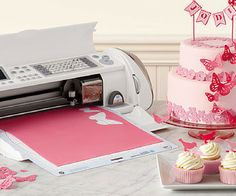 The Cricut Cake Personal Electronic Cutter is specifically designed for decorating professional-looking cakes, cupcakes, cookies, and confections in no time at all.