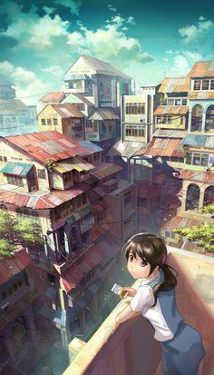 Красивые иллюстрации в стиле аниме