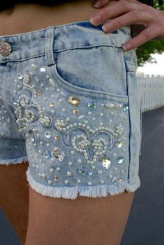 Sweet Baby Blues Denim Shorts - free shipping on all orders!