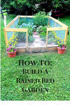 Time to start planting so I can have fresh veggies all summer! Building A Raised Garden, Raised Garden Beds, Raised Bed, Garden Crafts, Garden Projects, Garden Tips, Outdoor Projects, Garden Windows, Garden Walls
