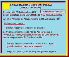 Maria Bonita e Poesia: Gosta de Sarau - Roteiro da Poesia