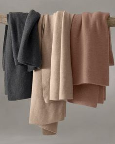 Wool and Cashmere Throw - Garnet Hill