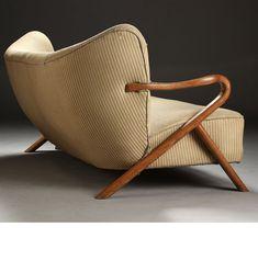 Viggo Boesen Attributed; Oak Sofa, c1940.